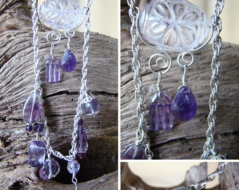 Twinkling Darkness Necklace - Amethyst and Sterling