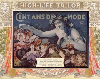 French Fashion Book - Rare from 1904 - Cent ans de mode