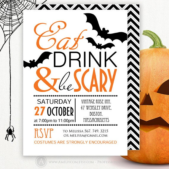 printable halloween invite instant download editable party