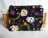 Day of the Dead Skulls Small Zipper Bag