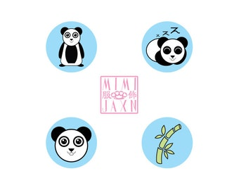 "2 1/4"" Kawaii Pandy The Panda Pinback Button"