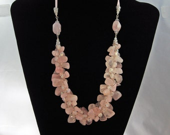 Rose Quartz Braided Necklace