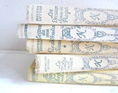 Antique BOOK COLLECTION, Decorative Book Set of 5, Cream color, Nelson Edition, 1930s.