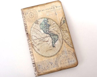 Personalised travel journal travel journal with world map travel journal old world map travel notebook adventure compass antique map sciox Images