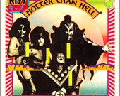KISS Hotter Than Hell Album Sales Promo Counter Top Stand-Up Display - Gift Idea Rock Band Collectibles Collection Collector Memorabilia