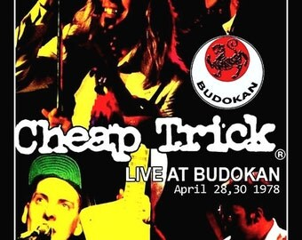 """Vintage Look Cheap Trick """"Live At Budokan"""" Counter Top Stand-Up Display - Rock Music Collectibles Collection Memorabilia Gift Idea Retro"""