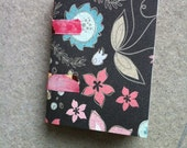 Floral Junque Jotter - mini smash journal, coptic stitched