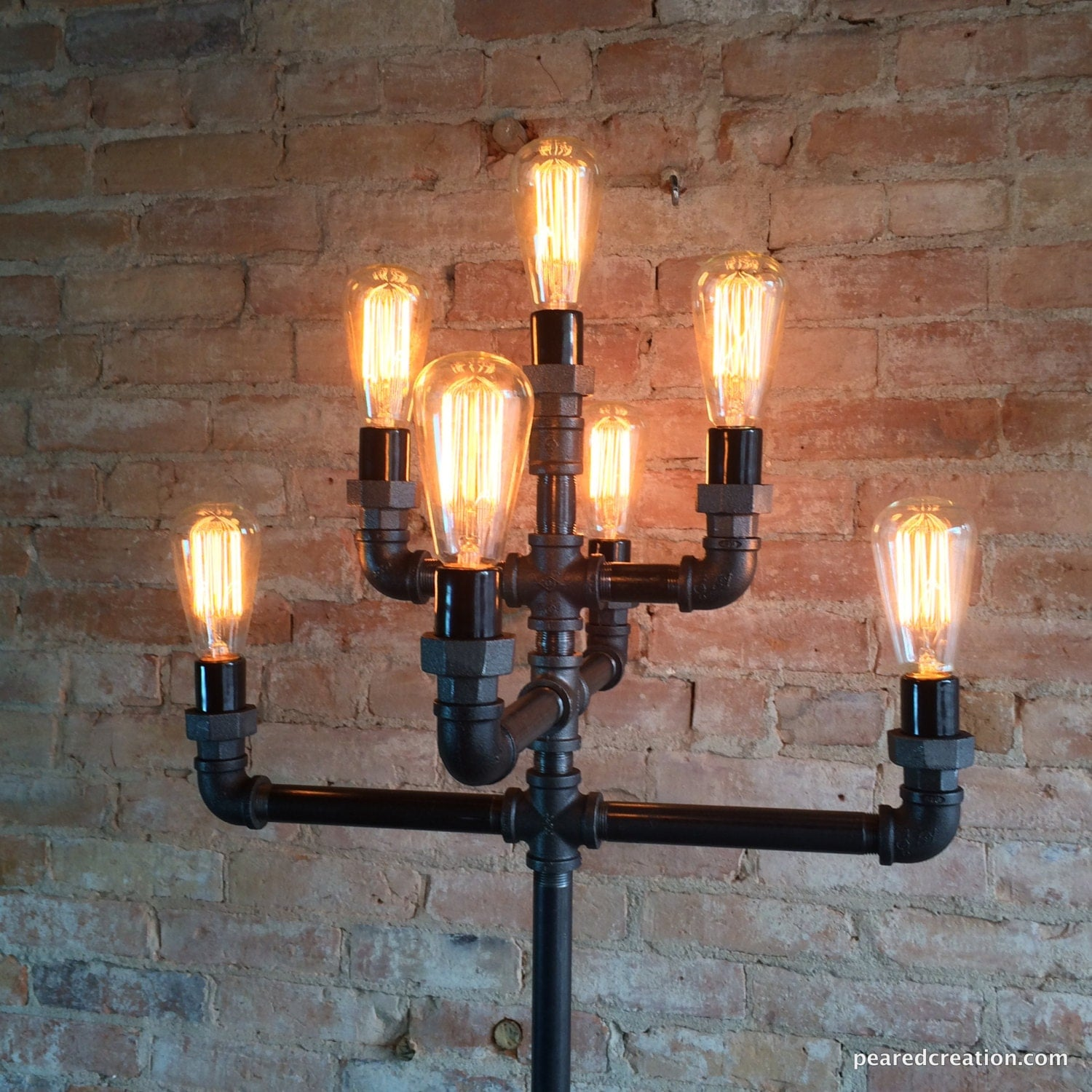 Floor Lamp Multiple Edison Bulb Industrial Style Iron