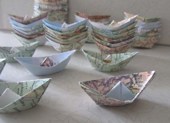 bateau voile de papier origami 48 bateaux d coration th me. Black Bedroom Furniture Sets. Home Design Ideas