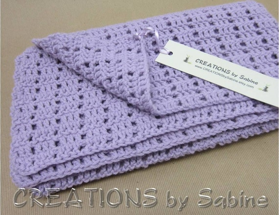 Baby Crochet Blanket Afghan / Lap Blanket by CREATIONSbySabine