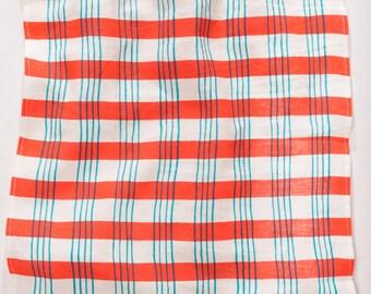 Tea Towel - Red and Cyan Plaid