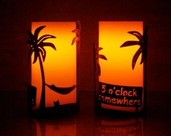 5 oClock Somewhere -1132 - Metal Candle Holder Luminary