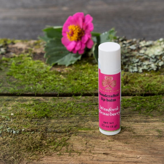 Lip Balm - Strawberry Lip Balm - Handmade Lip Balm - Beeswax Lip Balm