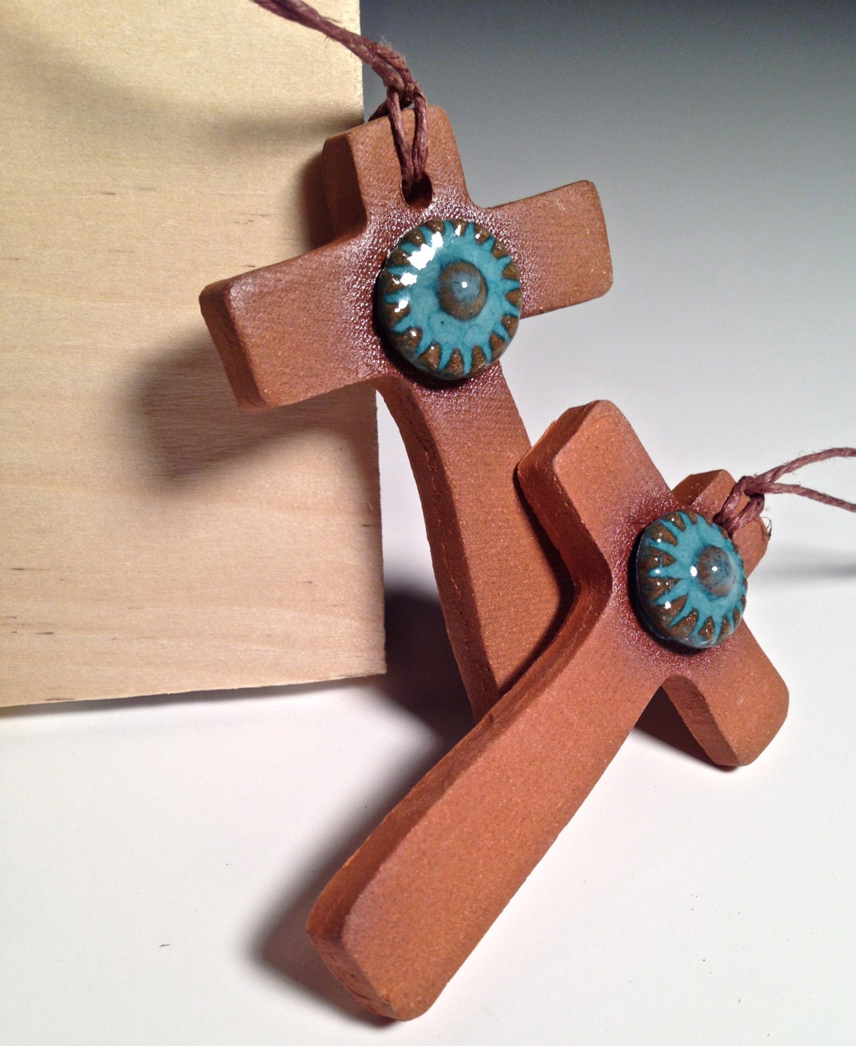 Color Your Own Religious Christmas Ornaments: Handcrafted Pottery Cross Ornament Ceramic Christmas Christian