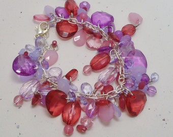 The Color of Fun Acrylic Beaded Cluster Bracelet