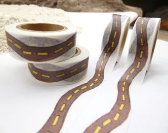 Divided Road Street Washi Tape - BB1186