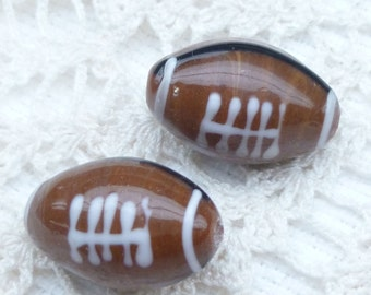 Football Lampwork Beads (2)