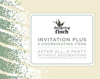 Invitation plus 4 coordinating items