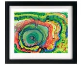 8.5 x 11 Colorful Abstract Art Print, Fluid Organic Painting, FREE shipping