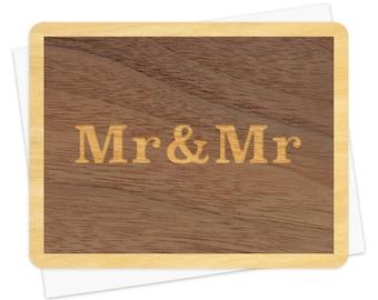 Mr & Mr Wood Wedding Congratulations Card • WC1364