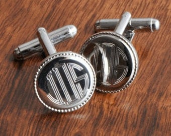 Father's Day Gift - Personalized Cuff links - Groomsmen Gift - Engraved Cufflinks - Groomsmen Gifts - Will You Be My Groomsman Gift FC202