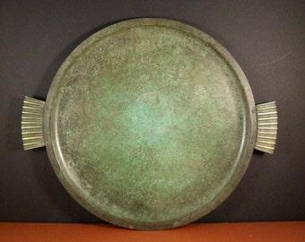 Carl Sorensen Bronze Verdigris Tray // LARGE, Incredible Art Deco Survivor