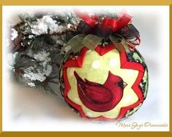 "Christmas Cardinal ""Picture Perfect"" Quilted Ornament DIY Kit"