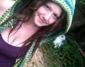 RESERVED for ThinkajenElf Festie Hoody, festival gear, hippie clothing, fairy hood, pixie gear