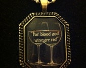 """Bookish necklace: Oscar Wilde - """"He did not wear his scarlet coat..."""" from The Ballad of Reading Gaol"""