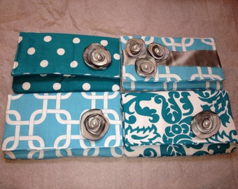 Bridesmaid clutches (set of 4)