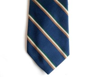 """Dark Blue Narrow Tie - Diagonal Stripes - 3"""" - Striped Ties - Mens Neckties Ties - Mens Ties - Suit Ties - Business Ties - Executive Ties"""