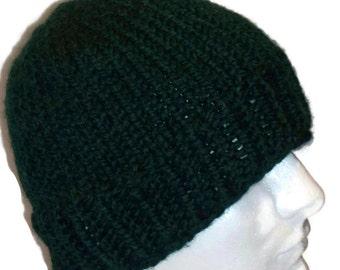 Warm Winter Beanie Hat, Pine / Dark Green,  Mens Hat