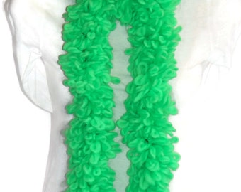 Loopy Scarf, Green, Neon Green