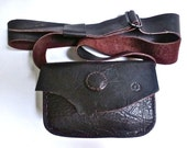 Dark brown buffalo hide purse, bison leather purse, across the body purse
