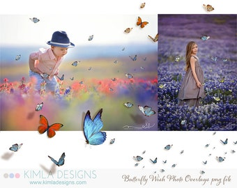 Butterfly Wish Photo Overlays vol1 PNG files