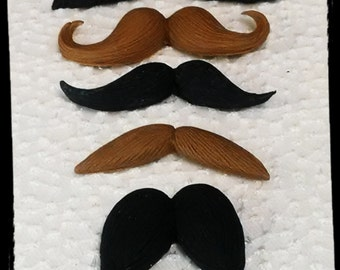 24 Edible gum paste/fondant mustache/any color(s)/moustache cake or cupcake toppers