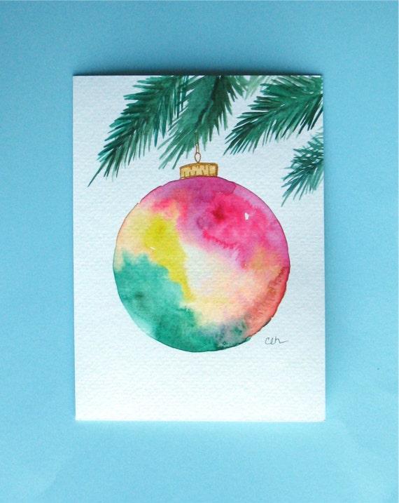 Watercolor card no christmas