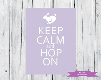 Easter Print Hop On INSTANT DOWNLOAD PDF Fast and Easy Easter Decor