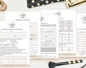 SALE Boudoir Photography Forms - Boudoir Photography Contract - Electronic Digital Forms - Boudoir Photography Templates - MK143FD