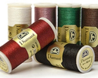 DMC Diamant Metallic Thread - 12 colors - 35 meter spools