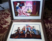 Patriotic Framed Crewel