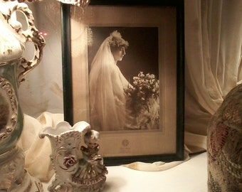 1930 Framed Bride Photograph