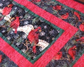 Christmas Quilted Table Runner - Cardinal's Song 2