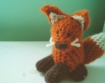 Fox Crochet Stuffed Doll Toy Fantastic Orange White Yarn