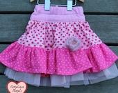 Dotty layered skirt