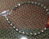 Pyrite Carnelian Bracelet for Dewey