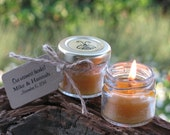 Beeswax Candle Jar Favors: Wedding, Shower, Party. Bees wax Tealights. Delicate Honey Scent