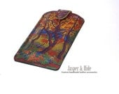 Printed leather phone case- Custom made for any phone