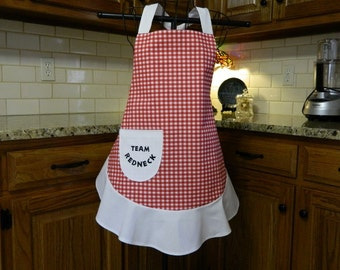 "Team Redneck Apron - Regular Size or Plus Size - Please specify ""Official Team Redneck"" Apron"