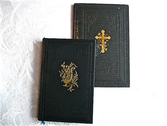 RESERVED FOR PAM: Two Antique German Religious Books, 1899, 1907 - Old German Script, 1899, 1907
